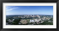 Framed Aerial view of a city, Austin, Travis County, Texas