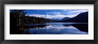 Framed Reflection of clouds in water, Mt Hood, Lost Lake, Mt. Hood National Forest, Hood River County, Oregon, USA