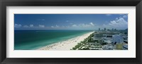 Framed City at the beachfront, South Beach, Miami Beach, Florida, USA