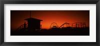 Framed Santa Monica Pier, Santa Monica Beach, Santa Monica, California, USA