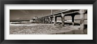 Framed Manhattan Beach Pier in Black and White, Los Angeles County