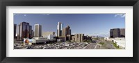 Framed Skyscrapers in a city, Phoenix, Maricopa County, Arizona, USA