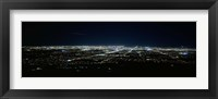 Framed Aerial view of a city lit up at night, Phoenix, Maricopa County, Arizona, USA