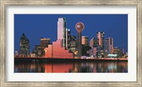 Framed Reflection of skyscrapers in a lake, Digital Composite, Dallas, Texas, USA