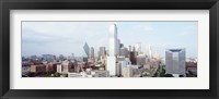 Framed Dallas Skyline