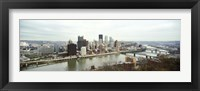 Framed High angle view of a city, Pittsburgh, Allegheny County, Pennsylvania, USA