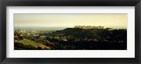 Framed High angle view of a city, Santa Monica, Los Angeles County, California, USA