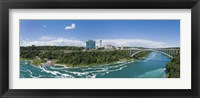 Framed Arch bridge across a river, Rainbow Bridge, Niagara River, Niagara Falls, Ontario, Canada