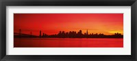 Framed San Francisco silhouette (red), California