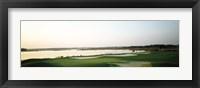 Framed Golf course at the coast, Ocean City Golf & Yacht Club, Ocean City, Worcester County, Maryland, USA