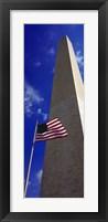 Framed Low angle view of an obelisk, Washington Monument, Washington DC