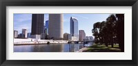 Framed Buildings viewed from the riverside, Hillsborough River, University Of Tampa, Tampa, Hillsborough County, Florida, USA