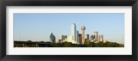 Framed Daytime View of the Dallas, Texas Skyline