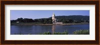 Framed West Virginia State Capitol from the Riverside, Charleston, West Virginia