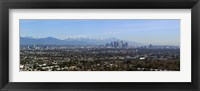 Framed City with mountains in the background, Los Angeles, California, USA 2010
