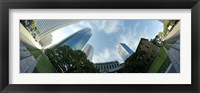 Framed Low angle view of skyscrapers, Houston, Harris county, Texas, USA