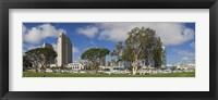 Framed Park in a city, Embarcadero Marina Park, San Diego, California, USA 2010