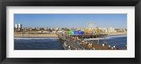 Framed Amusement park, Santa Monica Pier, Santa Monica, Los Angeles County, California, USA
