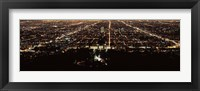 Framed Aerial view of a cityscape, Griffith Park Observatory, Los Angeles, California, USA