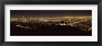 Framed Night View of Los Angeles from the Distance