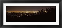 Framed Los Angeles, California Cityscape at Night