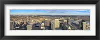 Framed Aerial view of a city, Cincinnati, Hamilton County, Ohio, USA 2010