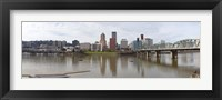 Framed Buildings at the waterfront, Willamette River, Portland, Multnomah County, Oregon, USA 2010