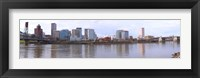 Framed Buildings at the waterfront, Portland, Multnomah County, Oregon, USA 2010