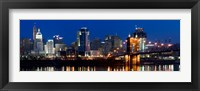 Framed Cincinnati, Ohio at Night