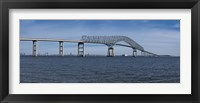Framed Bridge across a river, Francis Scott Key Bridge, Patapsco River, Baltimore, Maryland, USA