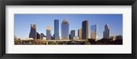 Framed Skyscrapers against blue sky, Houston, Texas, USA