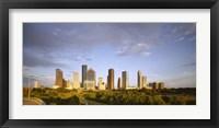 Framed Houston Skyscrapers, Texas