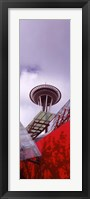Framed Low angle view of a tower (vertical), Space Needle, Seattle, Washington State