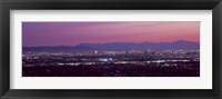 Framed Cityscape at sunset, Phoenix, Maricopa County, Arizona, USA 2010