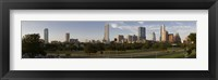 Framed Austin skyline, Travis County, Texas