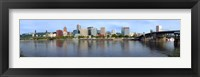 Framed Buildings at the waterfront, Willamette River, Portland, Oregon