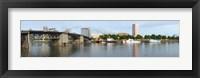 Framed Morrison Bridge, Willamette River, Portland, Oregon