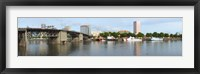 Framed Morrison Bridge, Willamette River, Portland, Oregon