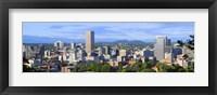 Framed Portland skyline, Oregon