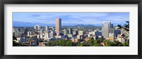 Framed Portland skyline, Oregon