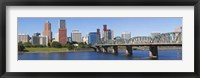 Framed Bridge across a river, Hawthorne Bridge, Willamette River, Multnomah County, Portland, Oregon, USA 2010