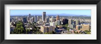 Framed High angle view of a cityscape, Portland, Multnomah County, Oregon
