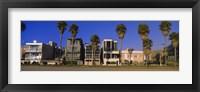 Framed Buildings in a city, Venice Beach, City of Los Angeles, California, USA