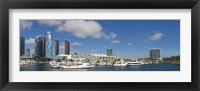 Framed Buildings in a city, San Diego Convention Center, San Diego, Marina District, San Diego County, California, USA