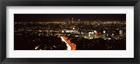Framed City lit up at night, Hollywood, City Of Los Angeles, Los Angeles County, California, USA 2010