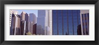 Framed Close up of skyscrapers in Los Angeles, Los Angeles County, California, USA