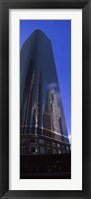 Framed Low angle view of a skyscraper in a city, City Of Los Angeles, Los Angeles County, California, USA