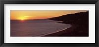 Framed Beach at sunset, Malibu Beach, Malibu, Los Angeles County, California, USA