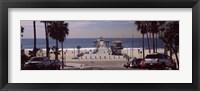 Framed Pier over an ocean, Manhattan Beach Pier, Manhattan Beach, Los Angeles County, California, USA