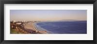 Framed City at the waterfront, Santa Monica, Los Angeles County, California, USA